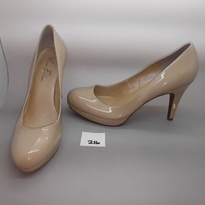 "Marc Fisher ""Sydney2"" Nude Patent Pump Size 10"